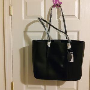 Wilson Leathers Black Computer Tote Bag
